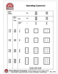 Operating Casement Window Size Chart From Brown Window