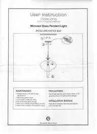 fitting instructions mirror pendant light