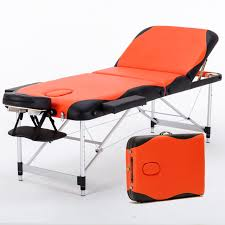 massage table and chair. 70cm Wide 3 Section Portable Massage Table Aluminum Facial SPA Bed Tattoo W/Free Carry And Chair