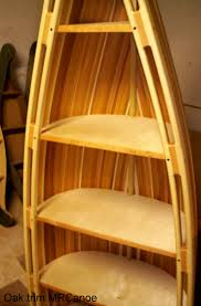 canoe bookcase furniture home best rustic cedar strip images on fearsome pictures
