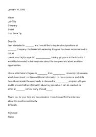 Letter Of Interest Format For Job Letters Of Interest