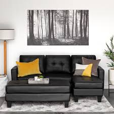 faux leather sectional. Best Choice Products 3-Seat L-Shape Tufted Faux Leather Sectional Sofa Couch Set