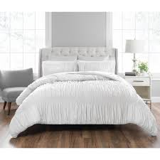 nicole miller francesca 3 piece technique white king comforter set
