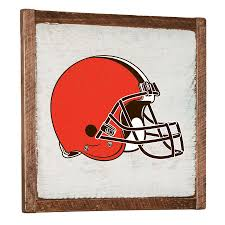 on cleveland browns wall art with white cleveland browns 27 x 27 vintage wall art