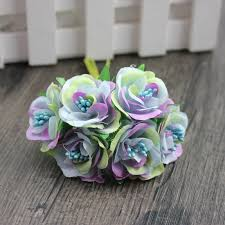 Daisy Paper Flower 6 Pcs Lot Cheap Mini Silk Daisy Artificial Rose Flowers