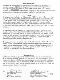 Letter Of Agreement For Public Relations Services Purpose Services ...