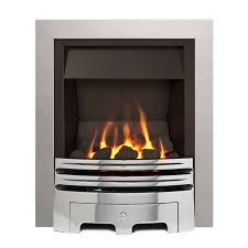 Ignite Westerly Open Fronted Chrome Effect Inset Multiflue Gas Fire    Departments   DIY at B&Q