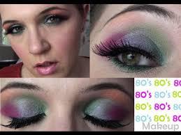80s rainbow makeup tutorial