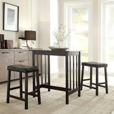 tall counter chairs. Hubbard Lane 3-Piece Black Bar Table Set Tall Counter Chairs P