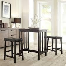 hubbard lane 3 piece black bar table set