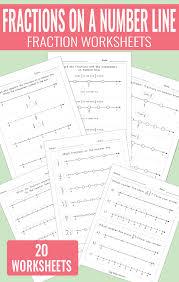 Fractions on a Number Line Worksheets - Math Worksheets - Easy ...