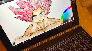lenovo yoga book how is working to draw goku
