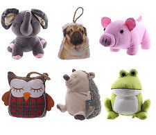 D25 Large Cute Fluffy Funky Novelty Animal Door Stop - Dog, Owl, Frog,
