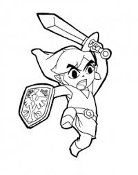 Ocarina of time 3d) #3771. Zelda Free Printable Coloring Pages For Kids