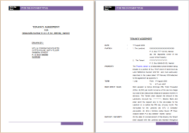 Official Documents Template Official Tenancy Agreement Template Ms Word Word Document