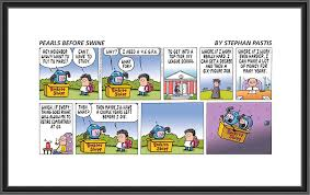 the standard 4 frame comic strip is enlarged to approximately 4 x 12 inches sizes vary in accor with the size of the comic itself