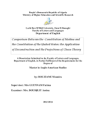 Pdf Comparison Between The Constitution Of Medina And The