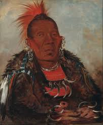 painting of wah ro née sah the surrounder a chief of the otoe tribe painted by george catlin 1832
