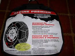 New Les Schwab Alpine Premier Diamond Quick Fit Cable Tire