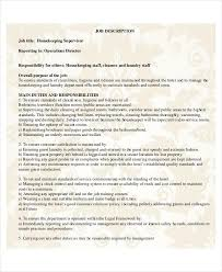 Housekeeping Supervisor Resume Template Cool Housekeeping Supervisor Resume Template Best Resume Examples