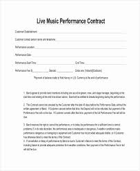 Music Contract Unique Musician Contract Template Free Audiopinions
