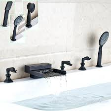 bathtub faucets luxury oil rubbed bronze widespread bathtub faucet deck mounted waterfall roman tub filler with
