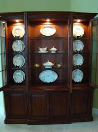 Multiple Plate Display Stands The Art of Accessorizing a China Cabinet Matt and Shari 77