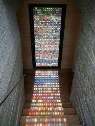 colored glass door stained glass door