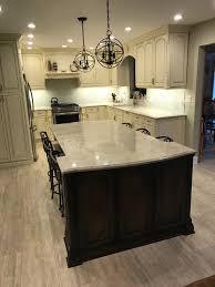 top of cabinet lighting. Elegant Cabinets Lighting Kitchen. Luxury Countertop Material Ideas With Taj Mahal Quartzite: Quartzite For Top Of Cabinet
