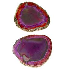Natural Agate Slice Dye Colorful Coaster For Cup Holder