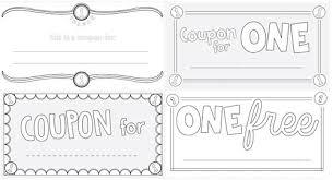 Make Coupons Lapbook Coupons
