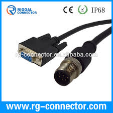 m12 8pin male to db9 female waterproof connector buy db9 m12 m12 8pin male to db9 female waterproof connector