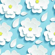 Flower Wall Paper Printelligent White Flower Wallpaper Peel And Stick Wallpaper Self Adhesive Size 10 Sq Ft 16 X 90 Inch