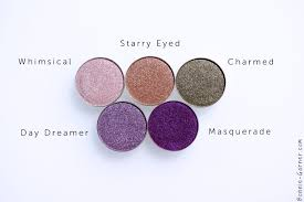 makeup geek foiled eyeshadows whimsical starry e charmed day dreamer masquerade