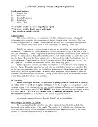 Example Of A Lab Report Chemistry Lab Report Format Rome Fontanacountryinn Com
