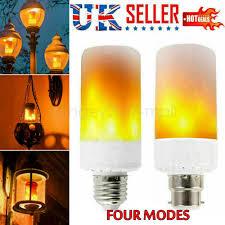 Flame Effect Light Bulb Uk Details About 4 Modes E27 5w Led Burning Light Flicker Flame Bulb Fire Effect Lamp Decor Uk