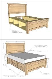 Storage bed plans Platform Diy Farmhouse Storage Bed With Storage Drawers Creative Ideas 25 Creative Diy Bed Projects With Free Plans Creative Ideas