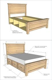 diy farmhouse storage bed with storage drawers find out the free plan