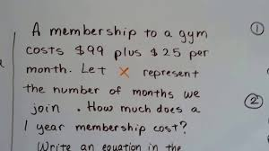 grade 8 math 5 1a write equation in slope intercept form from word problem