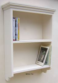 painted pine wall unit shelf with open back