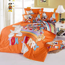 excellent orange tom and jerry twin full queen bedding for boys plans 18
