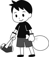 ゴミ拾いする健気な男の子の商用無料イラスト素材png Design Vector