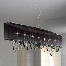 bk str jet black swarovski crystal chandelier