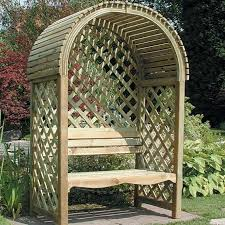 victoria arbour timber seat lattice
