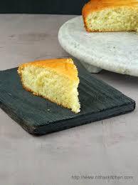 Eggless Butterless Vanilla Sponge Cake Recipe Nitha Kitchen
