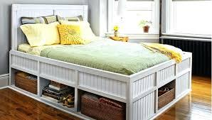 diy queen platform bed with storage design queen platform with storage size sensational bed