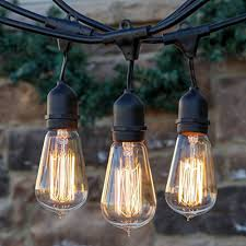 commercial patio lights. Brightech \u2013 Ambience Pro Vintage Edition Outdoor Commercial String Lights With Nostalgic Edison Bulbs 48 Patio