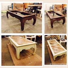 Wood Pallet Table Top Coffee Table Missing Its Glass No Problem Replace It With