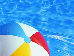 pool water with beach ball. Beach Ball In Water Pool With O