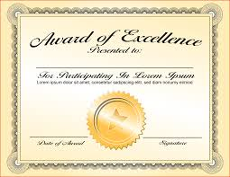 6 Certificate Award Template Bookletemplate Org